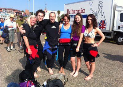 Before pier to pier BHF charity swim